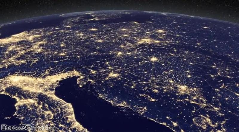 صور الكرة الارضية بالليل