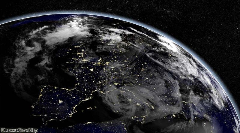 الكرة الارضية بالليل