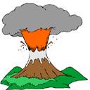 مجموعة ايقونات براكين متنوعة الالوان والاشكال volcanoes icon