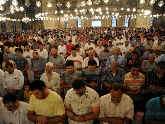 بالصور مصر صلاة عيد الفطر بمسجد محمد علي