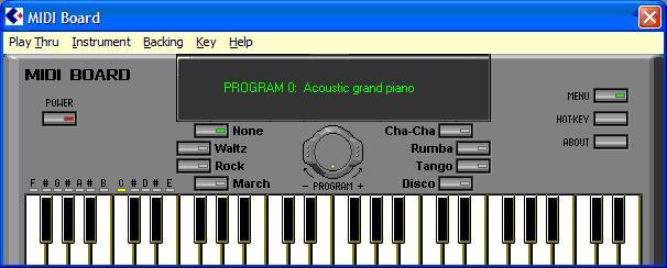 برنامج بيانو عالكيبورد midi board
