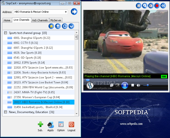 برنامج SopCast 3.3.2 لمشاهدة القنوات المشفرة
