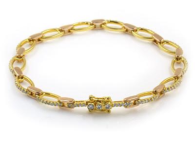 تشكيلة اساور ذهبية Gold bracelets