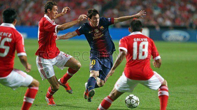 مباراة بنفيكا وبرشلونة ابطال اوروبا 2012-2013 بمرحلة الذهاب