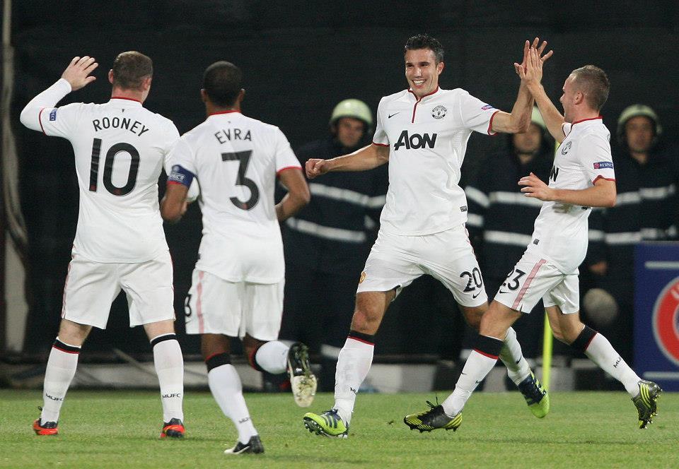 مباراة الروماني ومانشستر يونايتد الانجليزي الابطال 2012-2013 بمرحلة