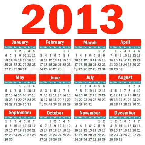 календарь 2013