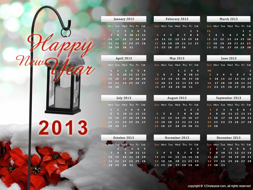 カレンダー 2013年カレンダー 印刷用 : 2013 Calendar Printable