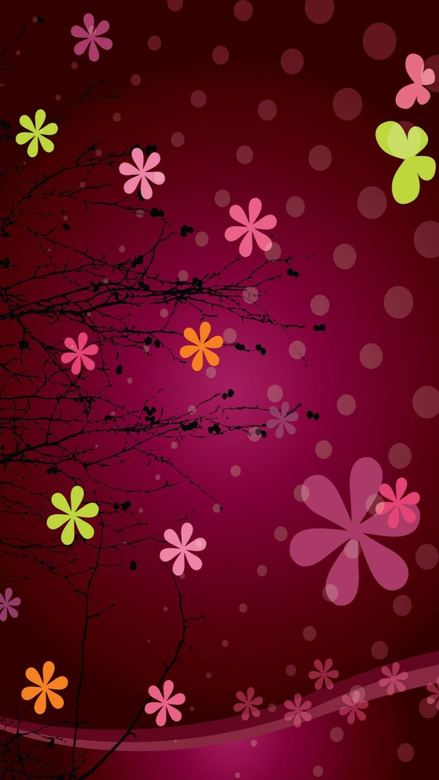 خلفيات فون زهور الوردي 2014 رهيب Pink Abstract