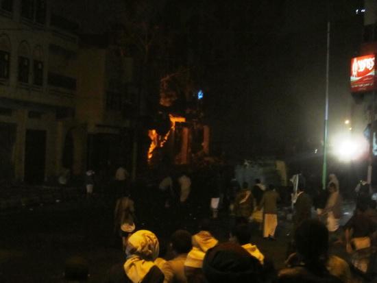 انفجار السلاح بالعاصمة صنعاء