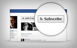 """فيسبوك Subscribe"""" Follow"""