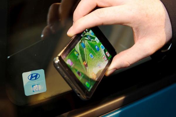 هيونداي تستبدل المفاتيح بالهواتف الذكية 2015