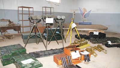 الدفاع اليمنية قائمة بالاسلحة الايرانيه ضبطها المياه الاقليميه