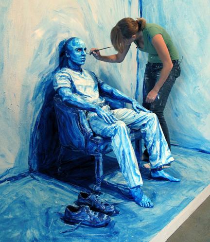 رسامه أمريكيه الواقع زيتيه