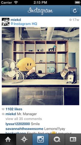 تطبيق Instagram للايفون