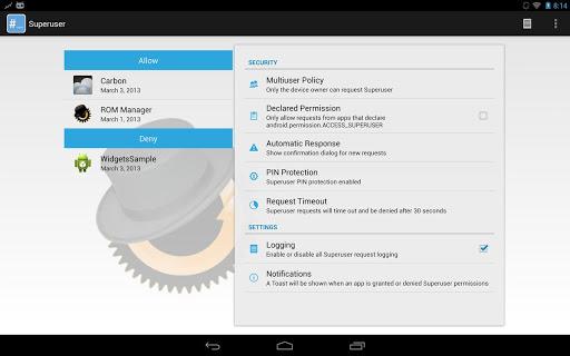 تطبيق Superuser الشهير لأصحاب الرووت بنسخة المصدر