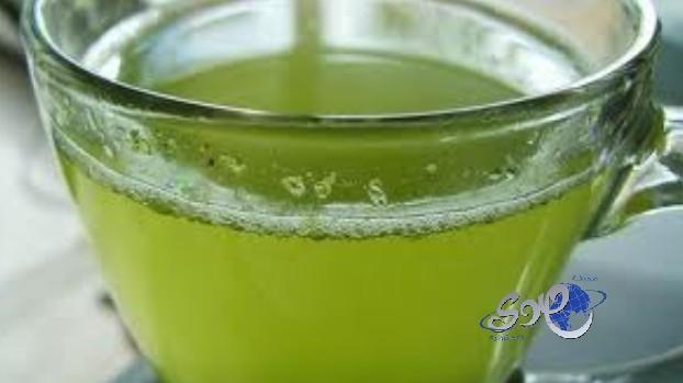 الشاي الأخضر الأزرق