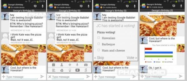 هذه أول صور مسربة لتطبيق المحادثة الجديد Google