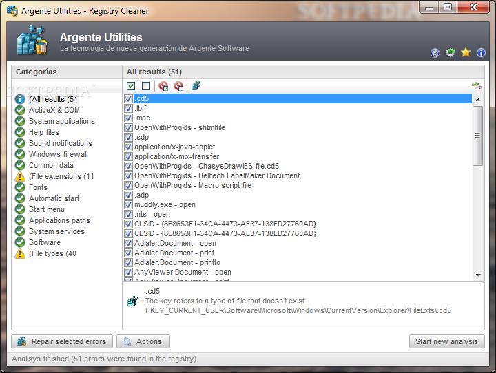برنامج لتنظيف النظام اخطاء النظام وتحسين النظام Argente