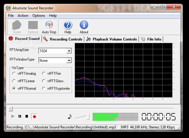 تسجيل الصوت ببرنامج Absolute Sound Recorder 4.7.0