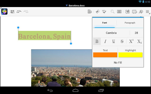 Quickoffice لمشتركي Google Apps for Business