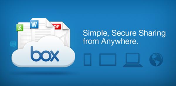 تطبيق التخزين السحابية Box لأندرويد الوسائط ويُحسن خيارات