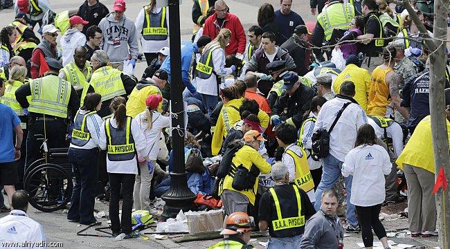انفجار فعاليات ماراثون بوسطن الدولي