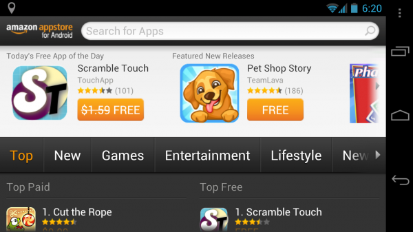 أعلنت آمازون توفر متجر تطبيقاتها 200 دولة
