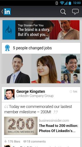 تحديث لتطبيق LinkedIn الصور