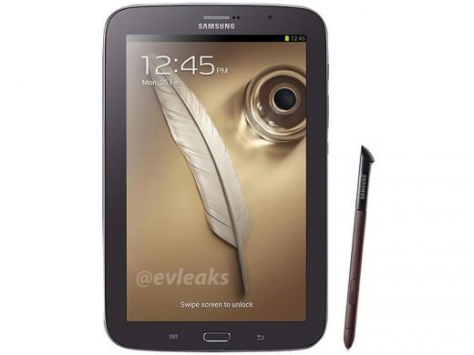 الهاتف اللوحي Samsung Galaxy Note 8.0 باللون البني