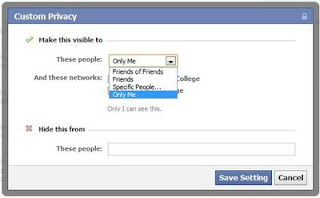 hide your friend list from others Facebook