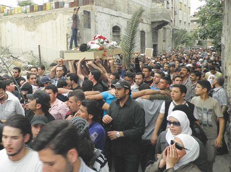 جنازة الرجل البخاخ زهراء جنازة زهراء الاسد تغتال