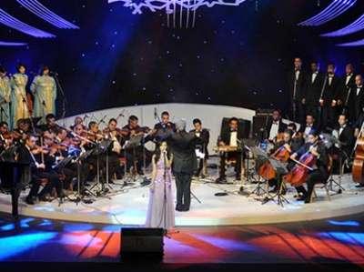 فستان كارمن سليمان مهرجان الاسكندرية بالصور بفستانها الطويل